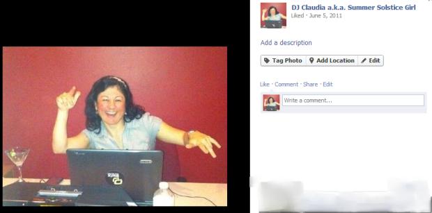 DJ Claudia a.k.a. Summer Solstice Girl