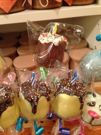 Birthday popcakes. So cute! I didn't get one, though and I should have