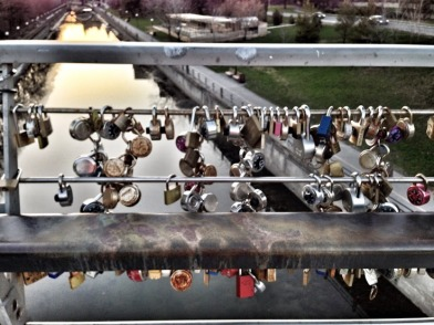 Love Padlocks at Corktown Footbridge