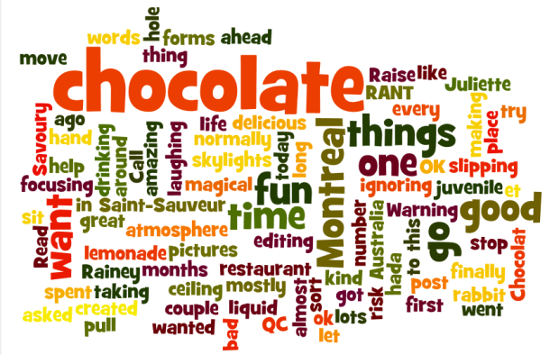 I guess I talk a lot about chocolate