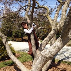 Pretending I can still climb trees