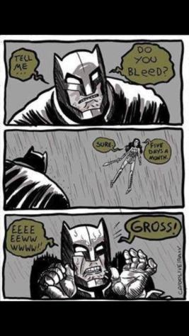 Grossed out Batman
