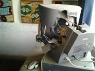 Transmission equipment destroyed