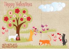 Playful Valentine Kitties